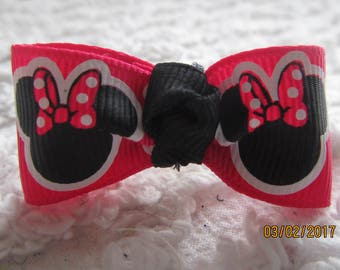 HOT PINK Minnie head Dog Hair Bows Can Mix and match with any of my bows, Minnie Head  dog bows, bows