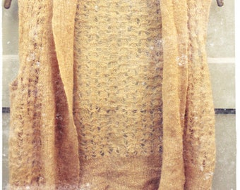 Soft mohair vest