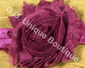 Preemie Shabby Flower Headband