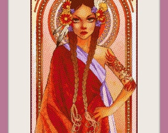 Power - Artwork by Hannah Alexander - cross stitch pattern - cross stitch - PDF pattern - Instant download!