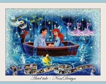 Ariel tale - cross stitch pattern - PDF pattern - instant download!