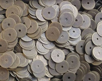 CLEARANCE** 8mm brass sequin, thin metal disc, 300 pcs