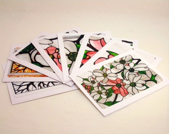 Dogwood Blossoms Blank Greeting Cards ~ Set of 8
