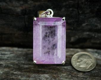 Kunzite Pendant - Large Kunzite Pendant- 26 gram Kunzite  Pendant - Kunzite Jewelry - Large Kunzite Pendant  - Kunzite Necklace - Kunzite