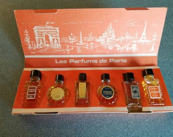 French Perfume, Vintage Perfume, Boxed Set 6, Les Parfums De Paris Charles V 2/3 OZ Vintage 1960s