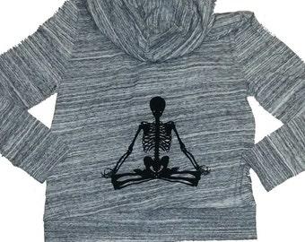 Lotus Yoga Skeleton Hoodie