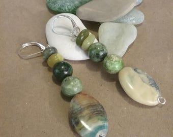 Multicolor beaded earrings.