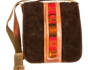 Handmade Suede and leather handbag