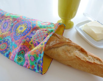 French bread bag, baguette tote, bakery, long bread bag,  bread storage, fabric bread bag, mylmelo, baguette bag, storag bag, eco friendly