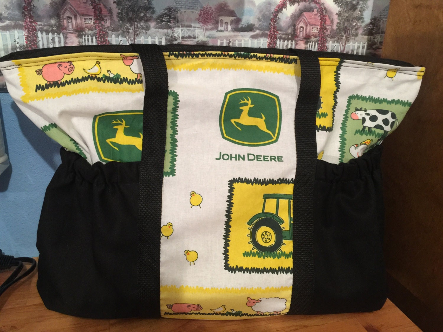 John Deere Diaper Bags : John deere diaper bag can make different prints and colored