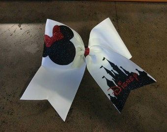 Disney Cheer Bow (Minnie Themed)