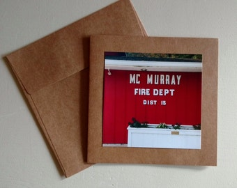 Firehall - Original Photography Greeting Card