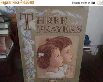 Save 25% Now Vintage 1941 Illustrated Children's Book Three Prayers (For Children) w/Original Dust Jacket Excellent Condition