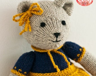 Knitted bear 28 cm Soft toy