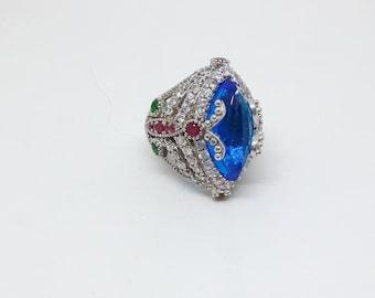 Aquamarine Ring, Silver Ring, Sterling Silver Ring, Emerald Ring, Ruby Ring, Zircon Ring