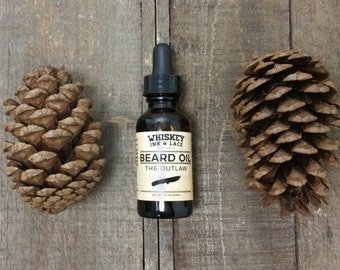 The Outlaw Beard Oil - Pine & Patchouli Scented Beard Oil, Pine Beard Oil, Patchouli Beard Oil, Beard Moisturizer Vegan Beard Conditioner