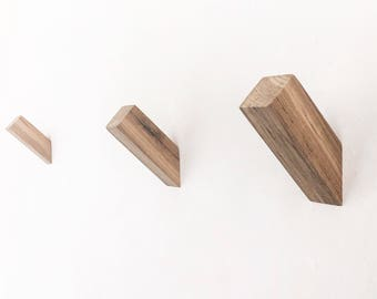Teak WallNuts™ - Modern Wall Hooks Handmade from Beautiful Solid Teak.  Perfect for Spa and Outdoor use.
