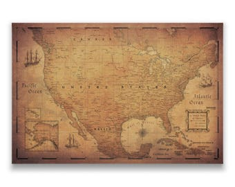 Travel Map Pin Boards And Posters By ConquestMaps On Etsy - Us states traveled map