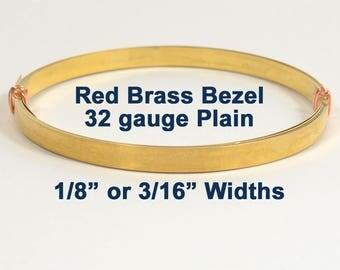 Red Brass Bezel Wire - 32 Gauge - Choose Your Width & Length