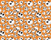 Disney The Nightmare Before Christmas Jack Faces in Orange Fabric From Camelot