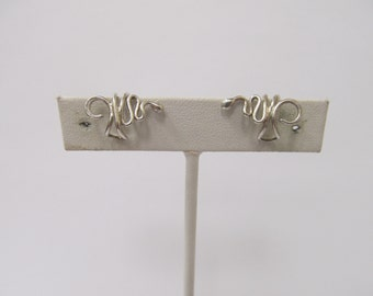 Handmade Sterling Silver Snake Ear Cuffs Pair W# 135