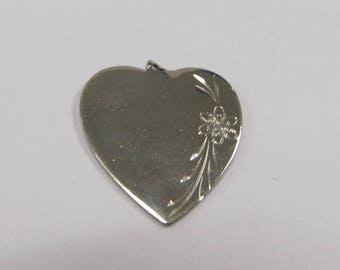 Vintage Sterling Silver Heart Charm W #209