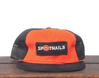 Vintage Spotnails Staples Staple Gun Fasteners Tools Trucker Hat Snapback Baseball Cap Patch