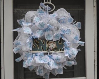 Simply Winter Deco Mesh Wreath