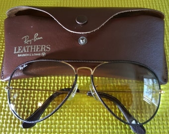 Ray Ban Bausch & Lomb  Leather Photochromatic sunglasses