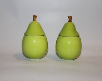 Pair of Vintage Pear Shaped Candle Holders
