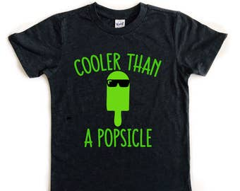 Cooler Than A Popsicle tee for infants, toddlers, and children