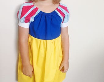 Snow White dress, toddler dress, girls dress, Sizes 2, 3, 4, 5, 6, 7, 8, fairest of them all Dress by LittleFofinha, disney Snow White dress