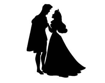 Disney/Sleeping Beauty/Prince Phillip/Dancing/Silhouette Sticker