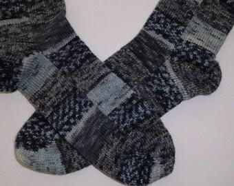 knitted socks,Size: EU 36-38 US 5-6, colorful socks, black, grey, socks for men
