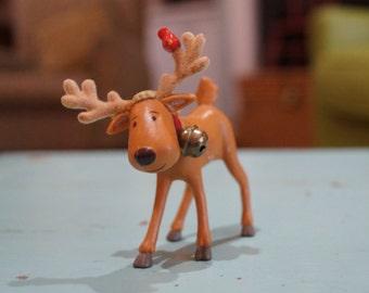 Vintage Hallmark Christmas Ornament Rodney Reindeer With A Redbird Sitting On His Antlers