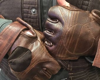 Custom Jyn Erso Rouge One Leather Gloves
