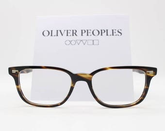 Oliver Peoples OV5280 Soriano. Tortoise prescription eyeglasses. Spectacle frames hand crafted in Italy.