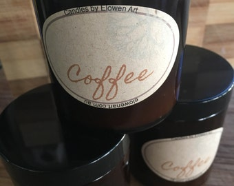 Coffee natural soy candle