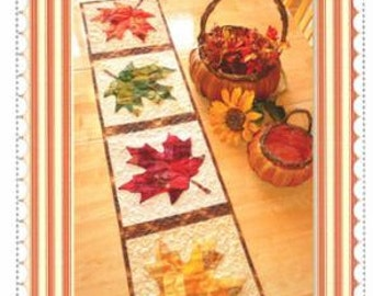 Pattern~Patchwork Maple Leaf Table Runner~for Sewing and Quilting, Fast Shipping PT405