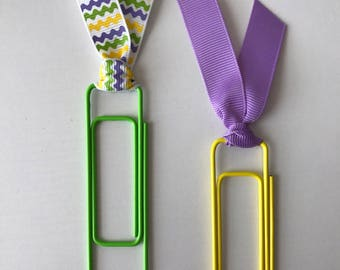SALE*** Spring Colored Jumbo Paper Clip Bookmarks