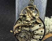 Steampunk necklace Handcrafted artistic jewelry - Victorian Magpie