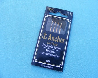 Anchor Gold Tapestry Needles -size 18