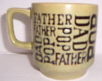 Vintage Father, Pop, Dad, Collectible Ceramic Name Mug- Made In Japan