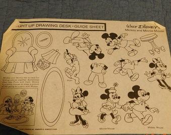 4 Walt Disney's Light Up Drawing Desk Guide Sheet