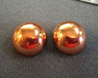 Classic Vintage Renoir Copper Clip Earrings.  Free shipping