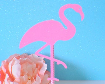 Flamingo cake topper, Hawaiian cake topper, luau cake topper, Luau party, Hawaii Party, Tropical cake topper, Flamingle cake topper