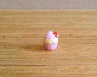 Strawberry Cupcake - Stitch Marker or Progress Keeper charm