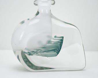 Modern Art Glass Vase Small Perfume Bottle Karlin Rushbrooke UK