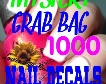 Mystery grab bag surprise 1000 mix lot  Waterslide Nail Decals Free Shipping