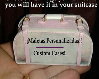 MINIATURE Blythe Suitcase, Pullip, Barbie Esc 1/6 CUSTOMIZED